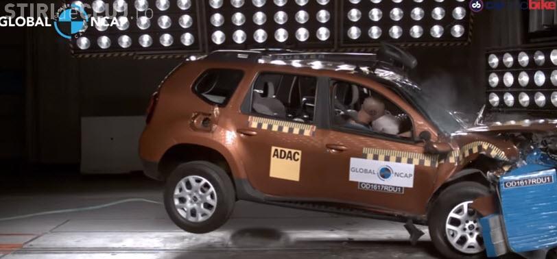 Renault Duster, VARZĂ la testul de siguranţă: 0 stele la crash