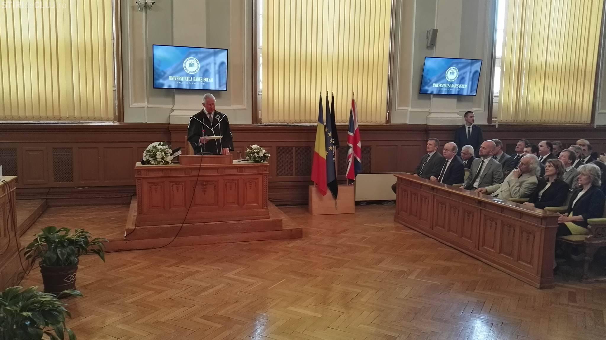 Prințul Charles a ajuns la UBB Cluj! Cu ce discurs a fost primit de rectorul Ioan Aurel Pop