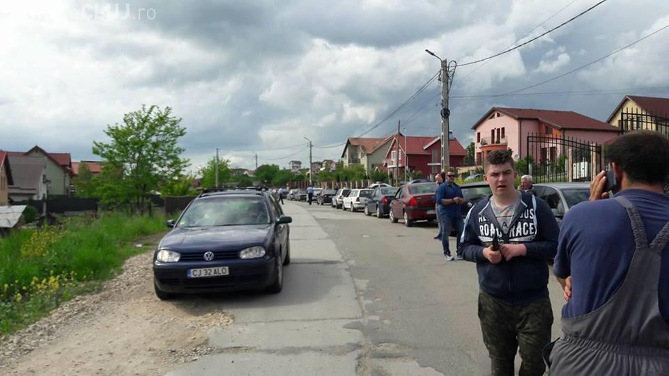 Protest în Chinteni față starea drumului DJ 109A Chinteni – Vultureni – Recea Cristur – Dealul Jurcii