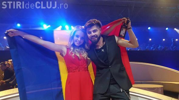 Ilinca Băcilă și Alex Florea au calificat România în finala Eurovision. Vezi momentul lor VIDEO
