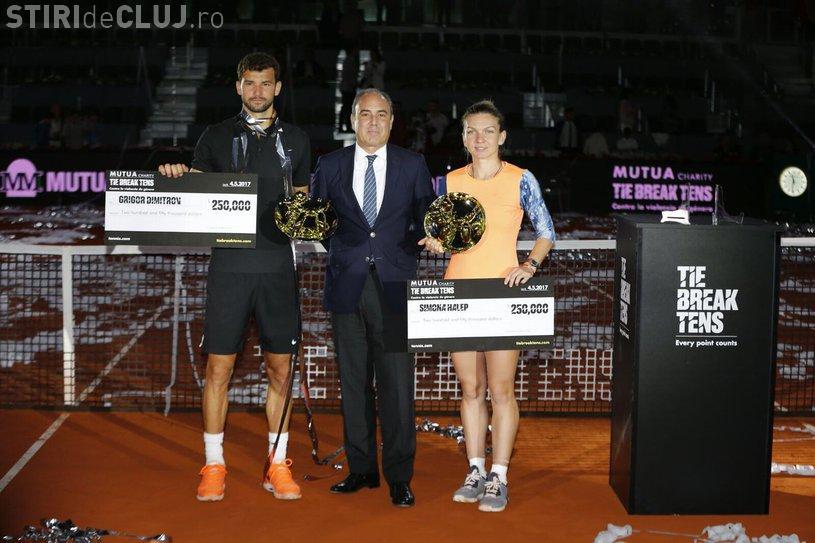 """Simona Halep, campioana """"turneului"""" Tie Break Tens, de la Madrid. A încasat 250.000 de euro în 37 de minute"""