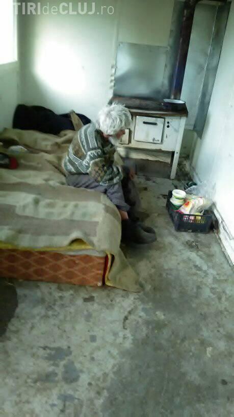 Săvădisla, jud. Cluj: Cioban bătrân, ABANDONAT, își împarte pâinea cu un câine fidel - FOTO