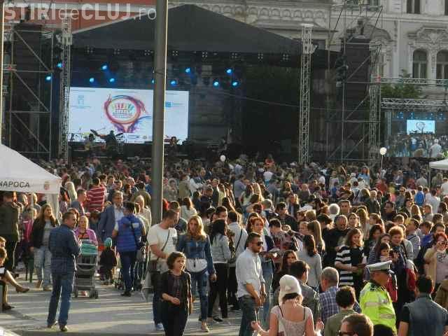 Zilele Clujului 2017: Programul zilei de vineri. Ce concerte sunt în Piața Unirii