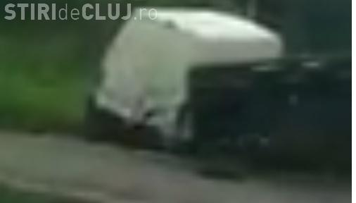 CLUJ: Accident cu o victimă pe drumul Oradea Cluj. Un șofer a intrat cu mașina pe contrasens VIDEO