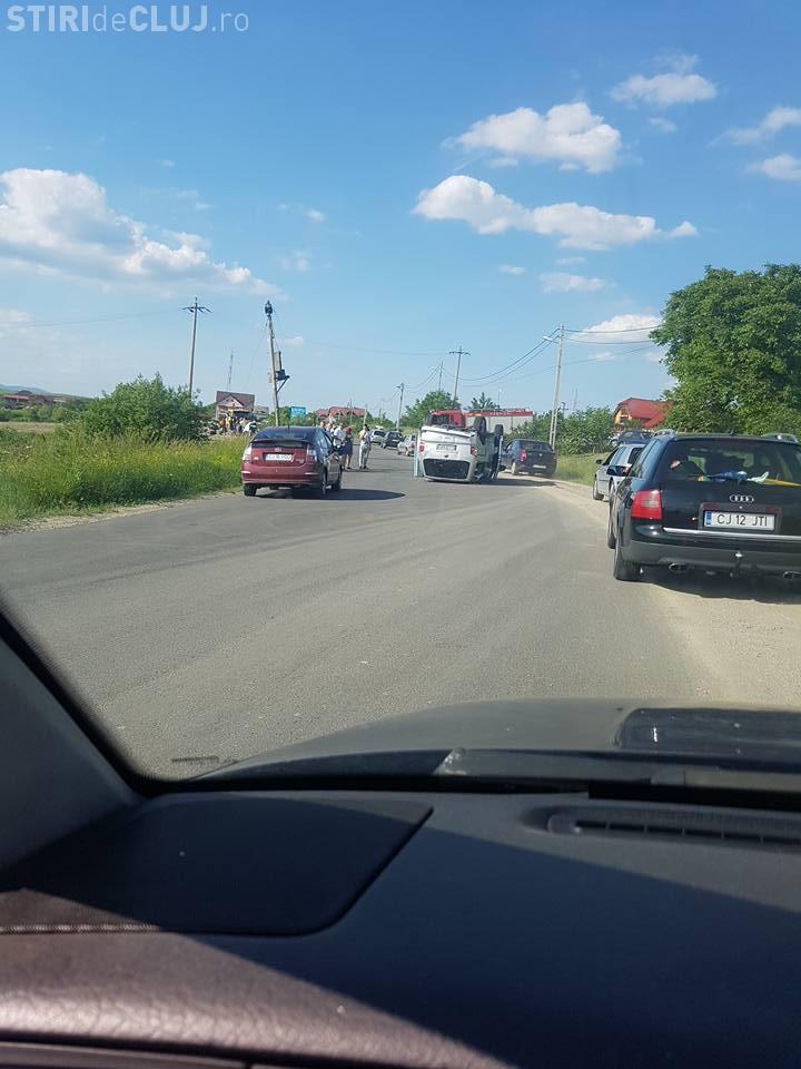 """Accident grav între Huedin și Beliș: """"Accident cu victime. Coloana mare"""" - FOTO"""