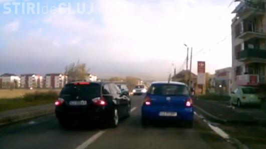 Florești: Șofer de BMW, prea șmecher ca să stea în coloană - VIDEO
