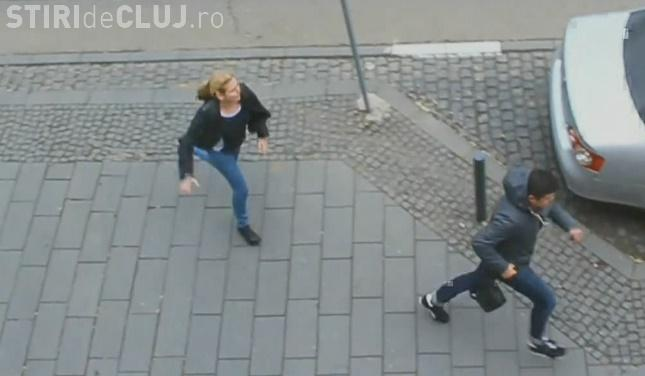 Cât spirit civic au clujenii? Polițiștii au făcut simulări de furturi în plină stradă VIDEO