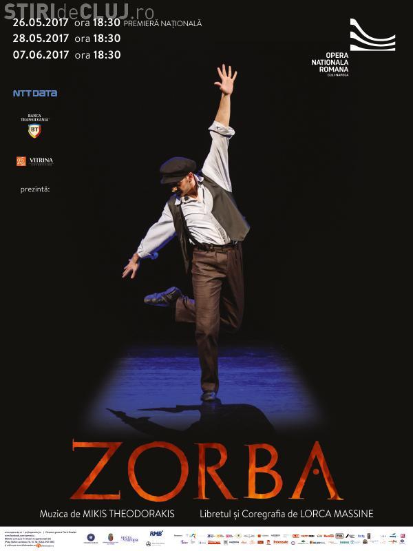 ZORBA, spectacol de balet în premieră națională absolută la Cluj