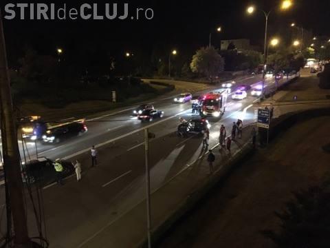 Accident cu trei victime în Mănăștur! Un șofer RUPT de beat a lovit în plin o mașină care venea din contrasens FOTO