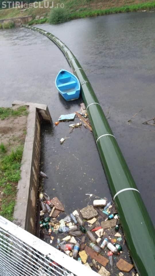 """Cluj-Napoca: """"Recolta"""" dintr-o zi de la barajul de pe Someș - FOTO"""