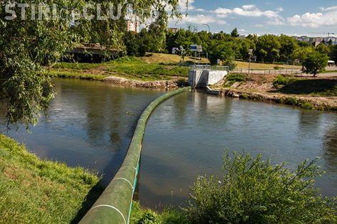 Cum vrea Primăria Cluj să curețe Someșul. Vezi noul sistem de colectare plutitor FOTO