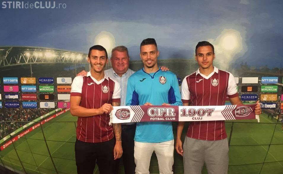CFR Cluj a adus trei noi jucători la echipă: doi români și un portughez FOTO