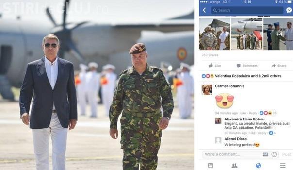 Carmen Iohannis a trimis inimioare când a văzut fotografiile preşedintelui de la Mihail Kogălniceanu