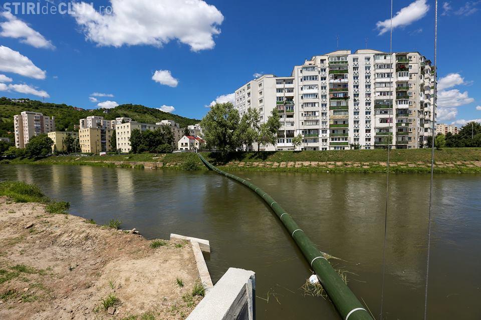 Un baraj pe Someș, în Grigorescu, va bloca deșeurile. Boc: Vom avea un Someș mai curat! - FOTO