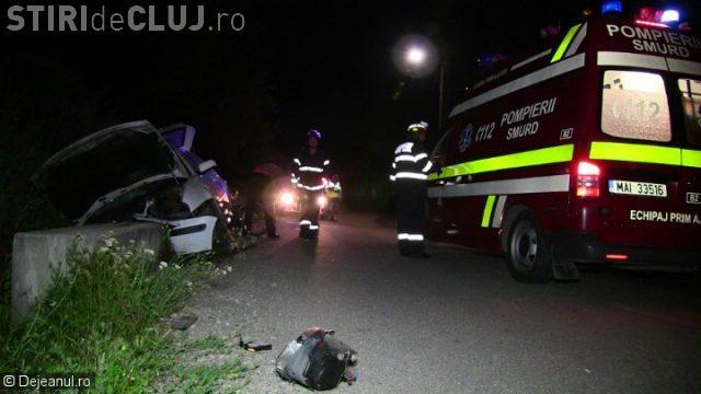 Accident grav pe un drum din Cluj. Un șofer cu handicap locomotor a ajuns la spital VIDEO