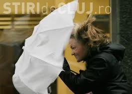 COD galben de vânt puternic și ploi la Cluj. Ce anunță ANM