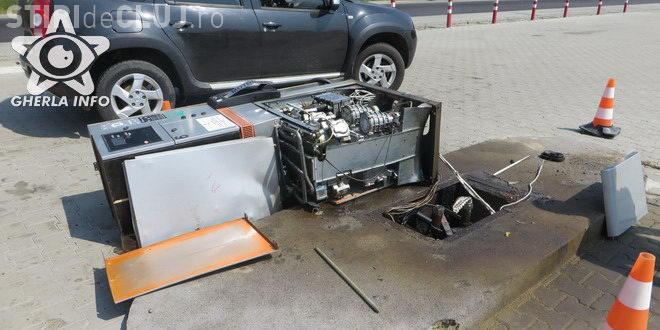 CLUJ: Un șofer a distrus o pompa de benzină și a fugit! Poliția îl caută VIDEO