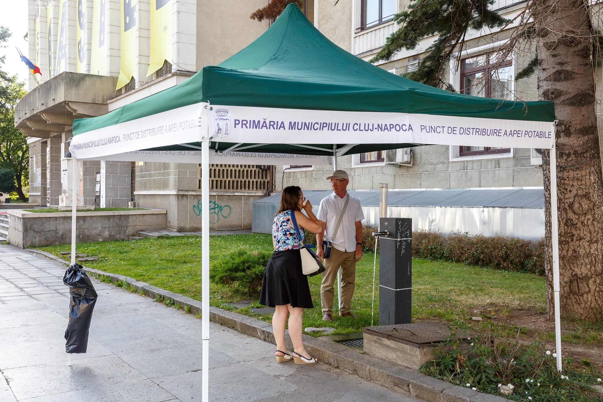 Cluj-Napoca: Unde sunt punctele cu apă potabilă pe durata caniculei