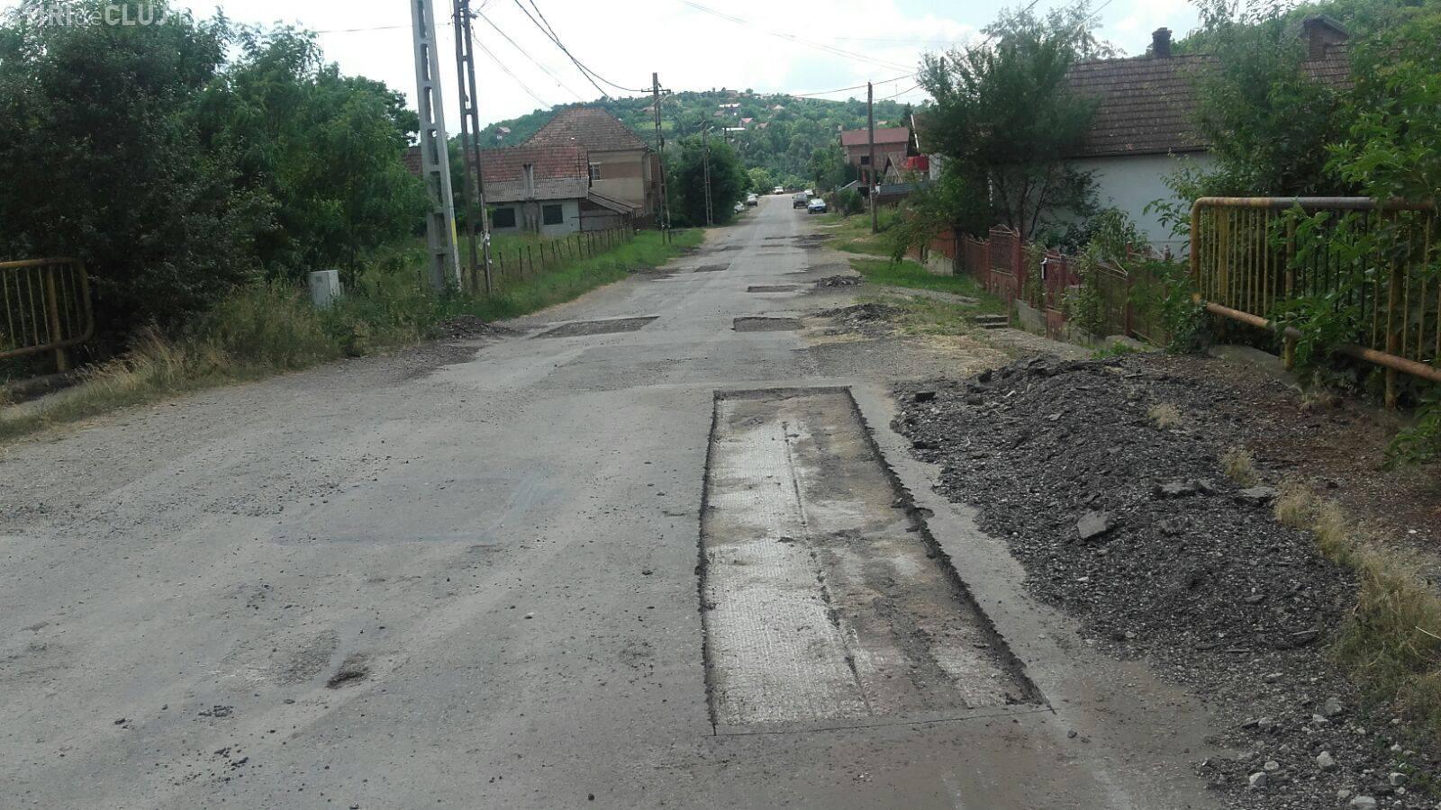 Lucrări de întreţinere pe drumul judeţean Apahida - Cojocna - FOTO
