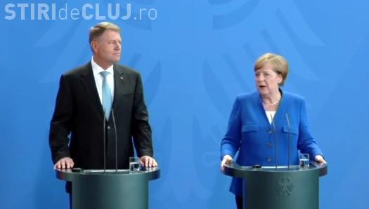 Întâlnire între Klaus Iohannis și Angela Merkel: Ce spune cancelarul Germaniei despre criza politică din România