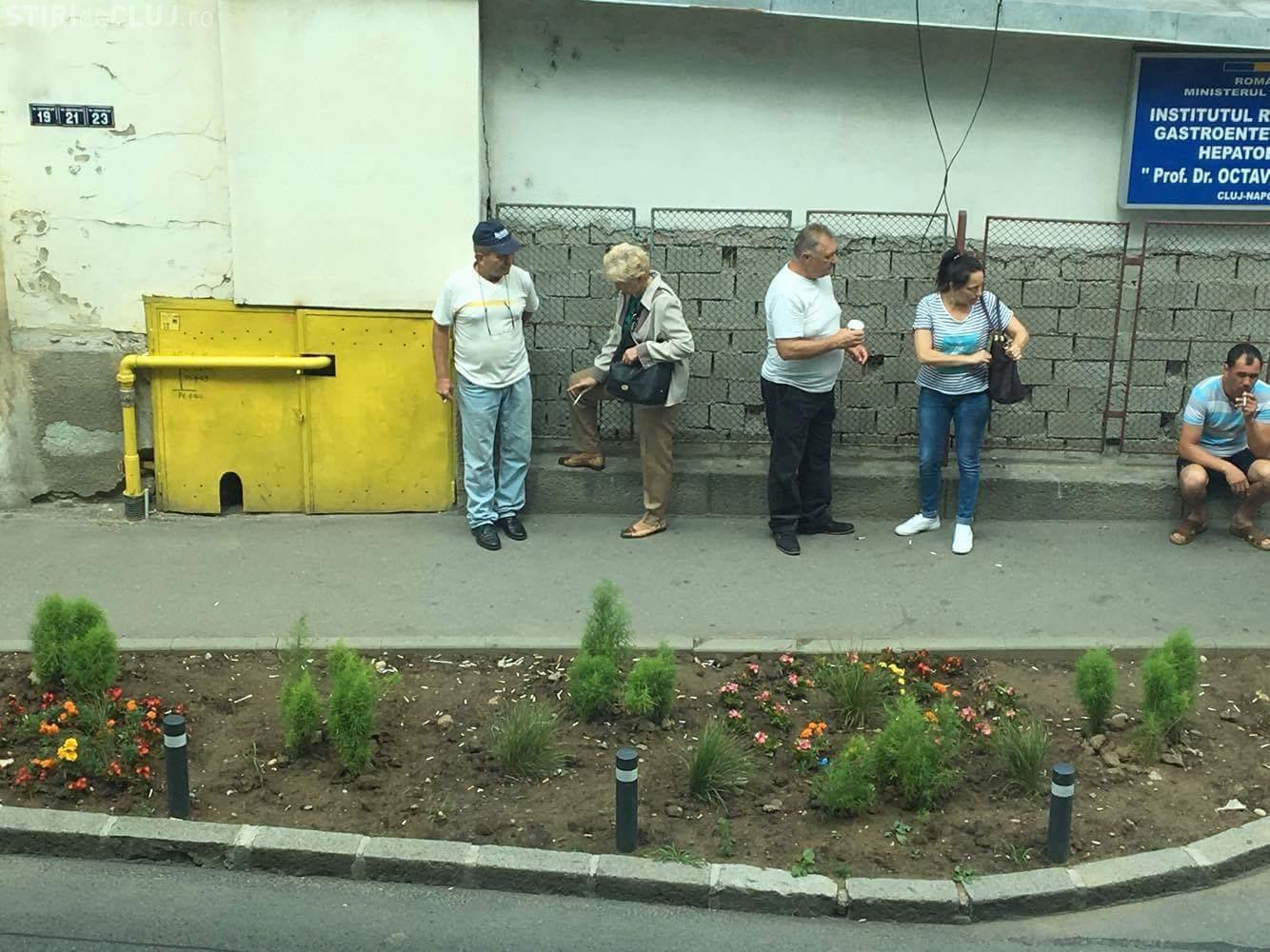 Cluj: Au amenajat în fața Spitalului de Gastroenterologie, dar acum e cocină - FOTO