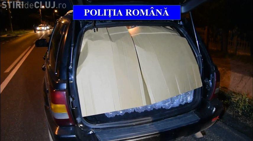 Captură uriașă de alcool de contrabandă! Polițiștii clujeni au confiscat 2.000 de litri de alcool etilic FOTO/VIDEO