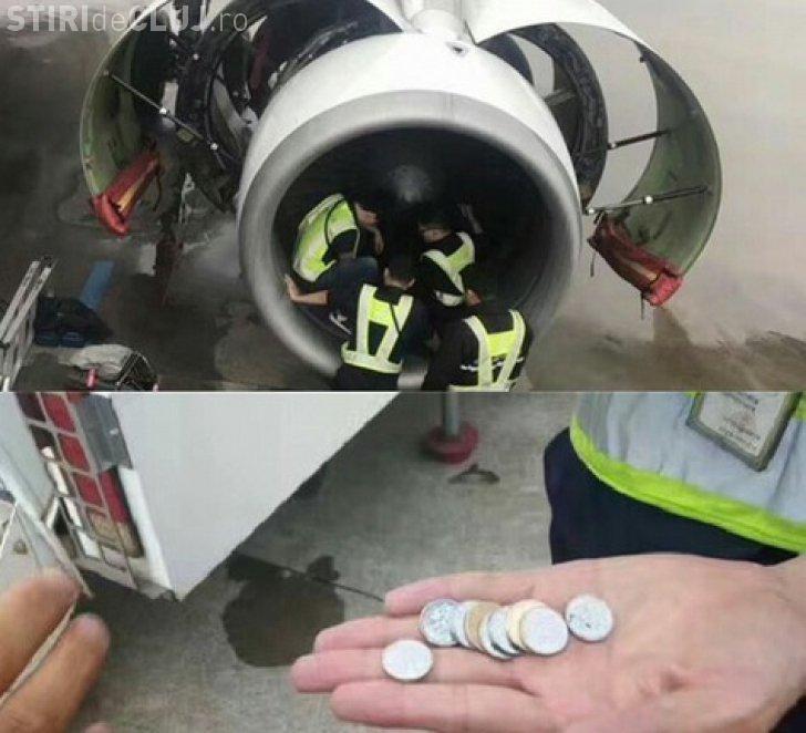 """O femeie a aruncat monede în motorul avionului pentru """"noroc"""". Ce a urmat"""