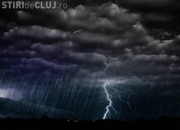 UPDATE Cluj-Napoca sub cod galben de furtuni! Ce anunță ANM