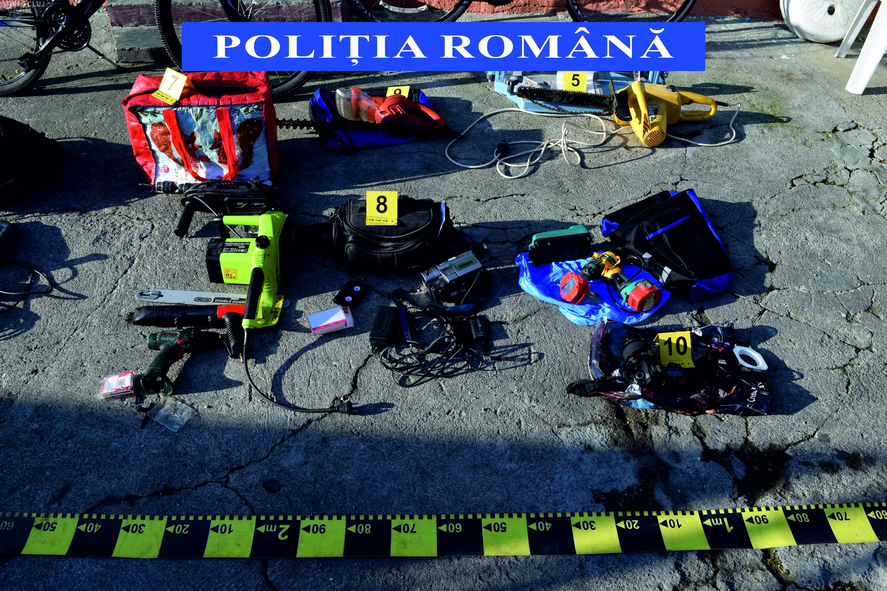 """CLUJ: Percheziții la un spărgător """"profesionist"""". Polițiștii au găsit cantități impresionante de bunuri furate FOTO/VIDEO"""