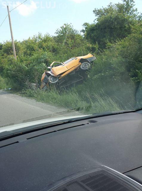 Accident pe strada Borhanci, spre centura Vâlcele - Apahida - FOTO