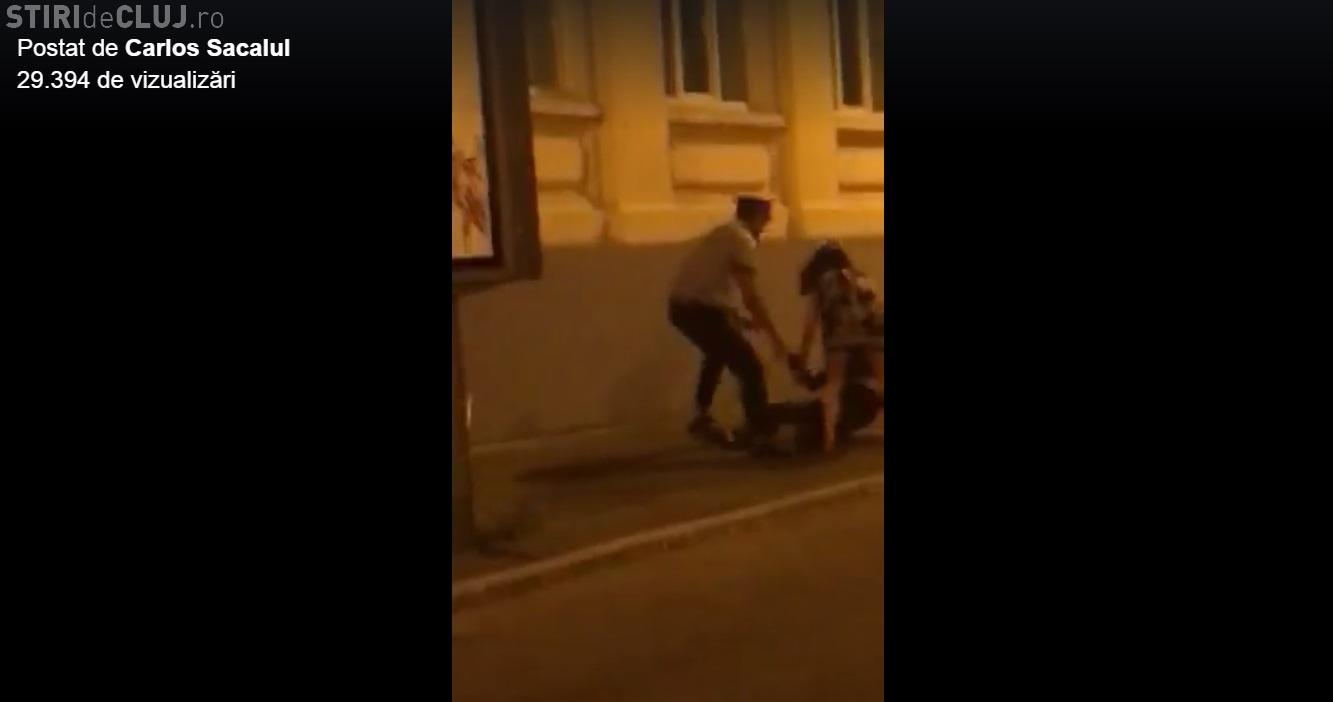 Medic cunoscut târât de polițiști pe stradă. A refuzat să se legitimeze - VIDEO