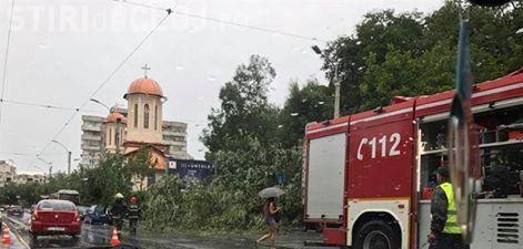 Furtuna a făcut ravagii la Cluj-Napoca și în județ! Pompierii au avut multiple intervenții