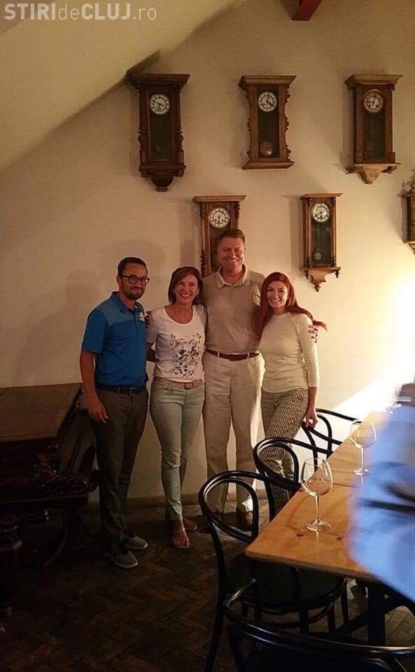Klaus Iohannis în vizită la Cluj. A luat masa în centru