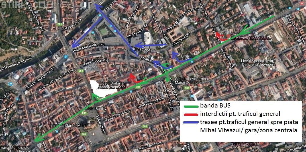 Dezbatere la Cluj-Napoca. Totul despre banda unică de transport Mărăști - Centru