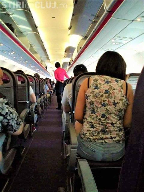 Cluj: Scaun fără spătar într-un avion Wizz Air ce a decolat de la Cluj