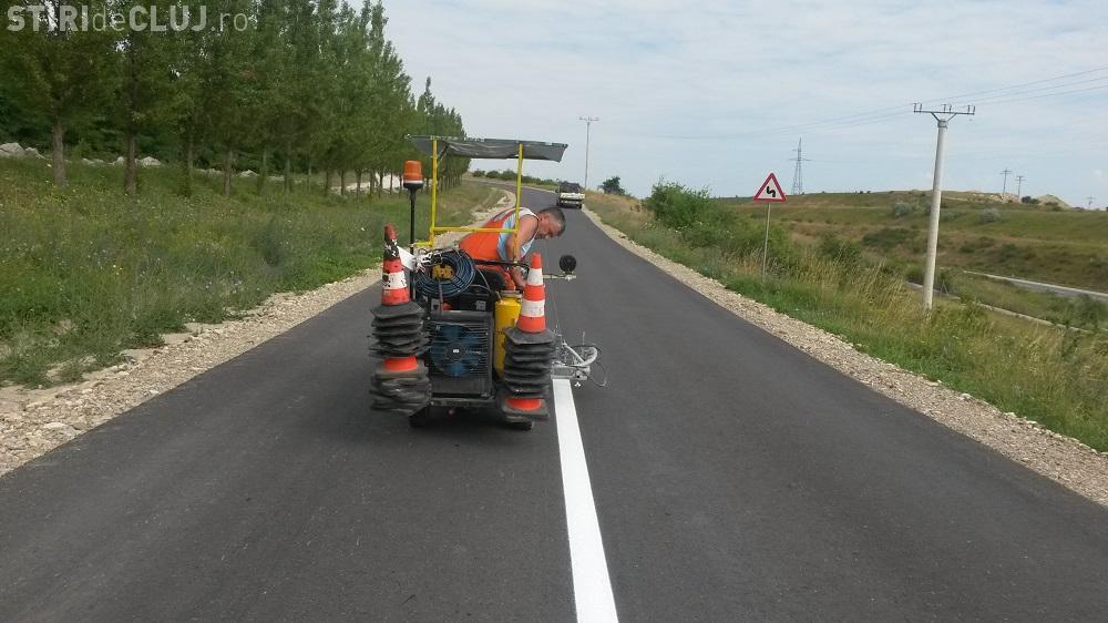Cluj: Drumurile asfaltate sunt trasate de Consiliul Județean