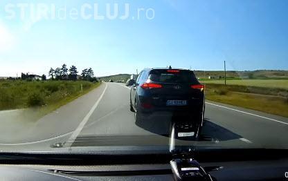 Cluj - Scenă de infarct în trafic: Trebuia să mergi cu filmarea la Poliție    - VIDEO