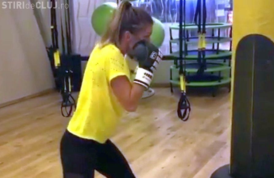 Simona Halep se antrenează ca Rocky. Cum lovește sacul de box - VIDEO
