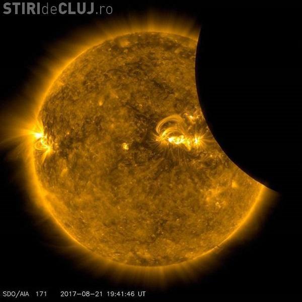 Eclipsa de Soare văzută din spaţiu. NASA a publicat fotografii