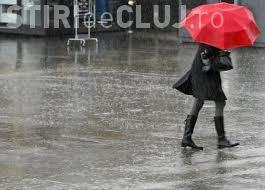 COD GALBEN de ploi torențiale în mai bine de jumătate din țară. Clujul este afectat