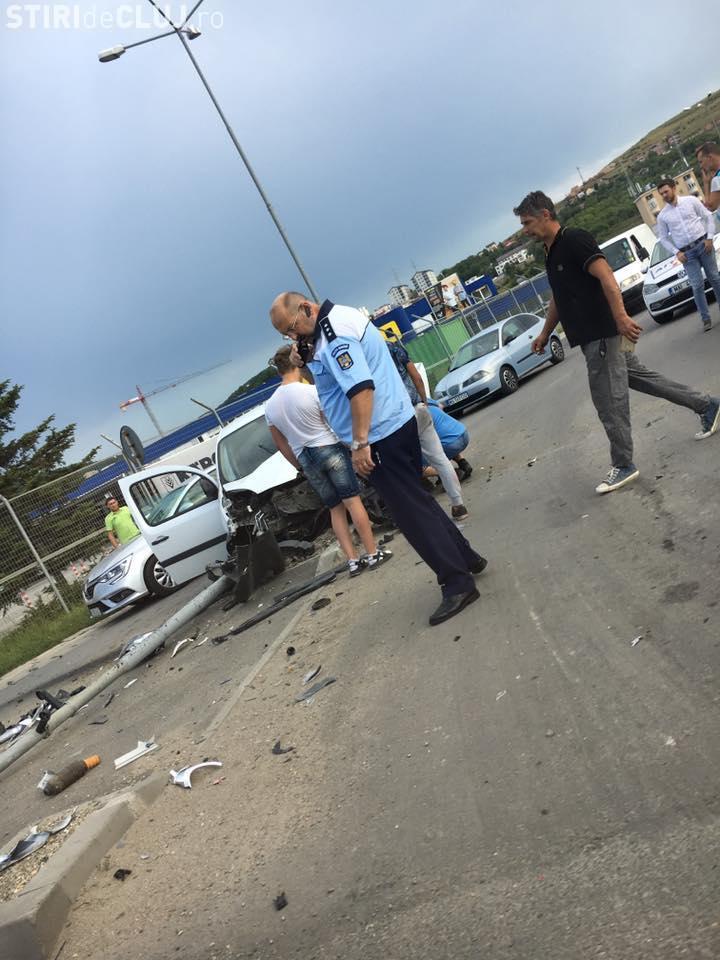 Accident în Florești, la trecerea de la Metro