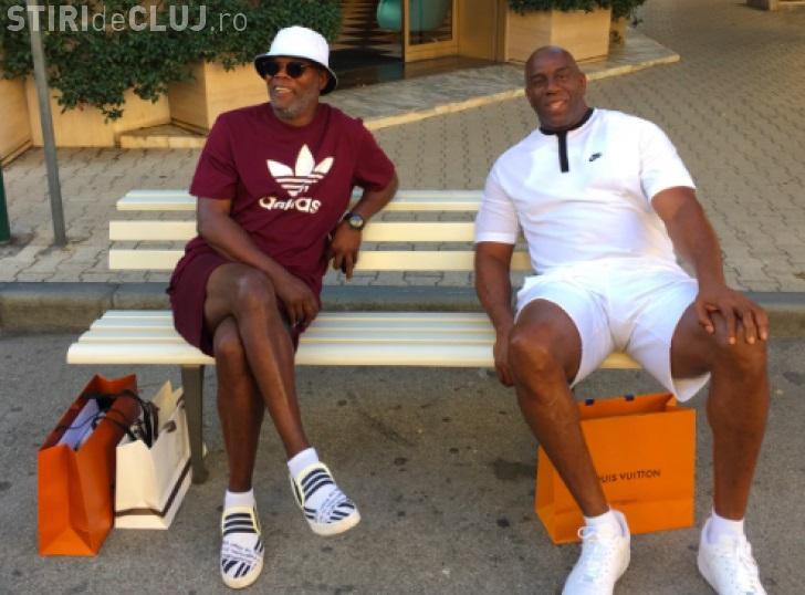Samuel L. Jackson şi fostul baschetbalist Magic Johnson, confundaţi cu imigranţi în Italia