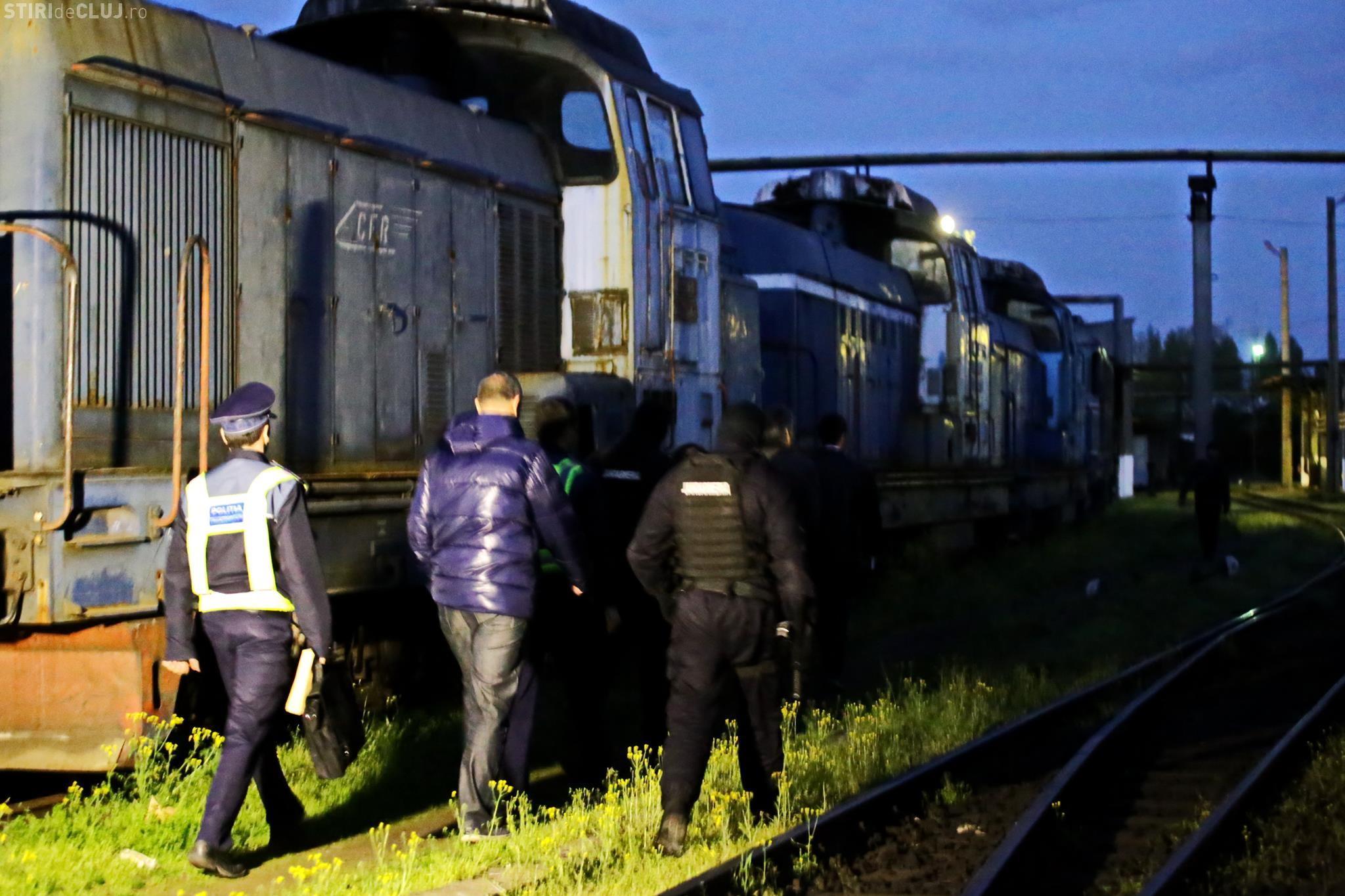 Cluj: Percheziții la firme care furau motorina din locomotive