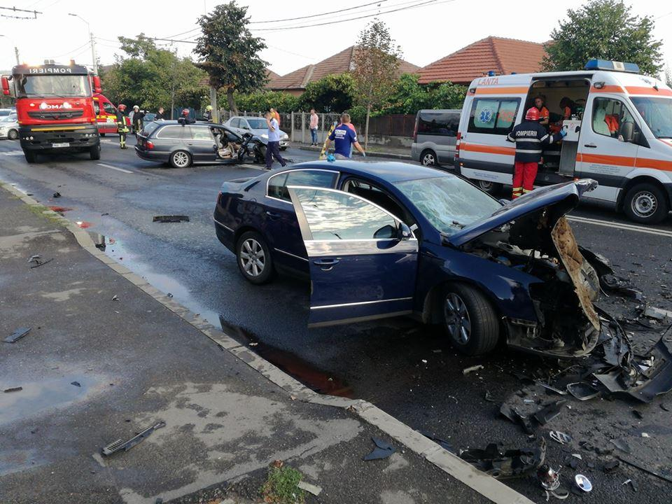 Accident grav la Ambient, în cartierul Someșeni - FOTO