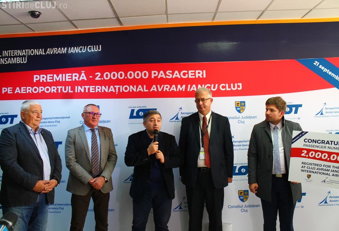 Pasagerul cu 2 milioane pe Aeroportul Internațional Cluj! E un nou RECORD - FOTO