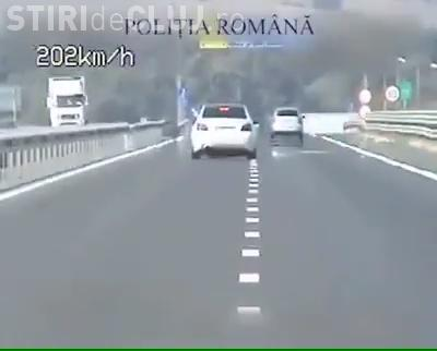 Șofer depistat pe autostrada A3 cu 211 km/h - VIDEO