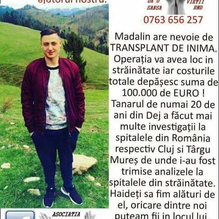 Concert caritabil la Cluj pentru un tânăr care are nevoie urgentă de un transplant de inimă