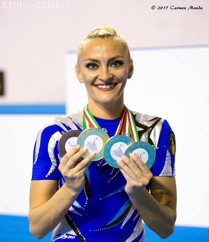 Gimnasta din Cluj, Andreea Bogati, cea mai medaliată sportivă din lotul României de la Europene