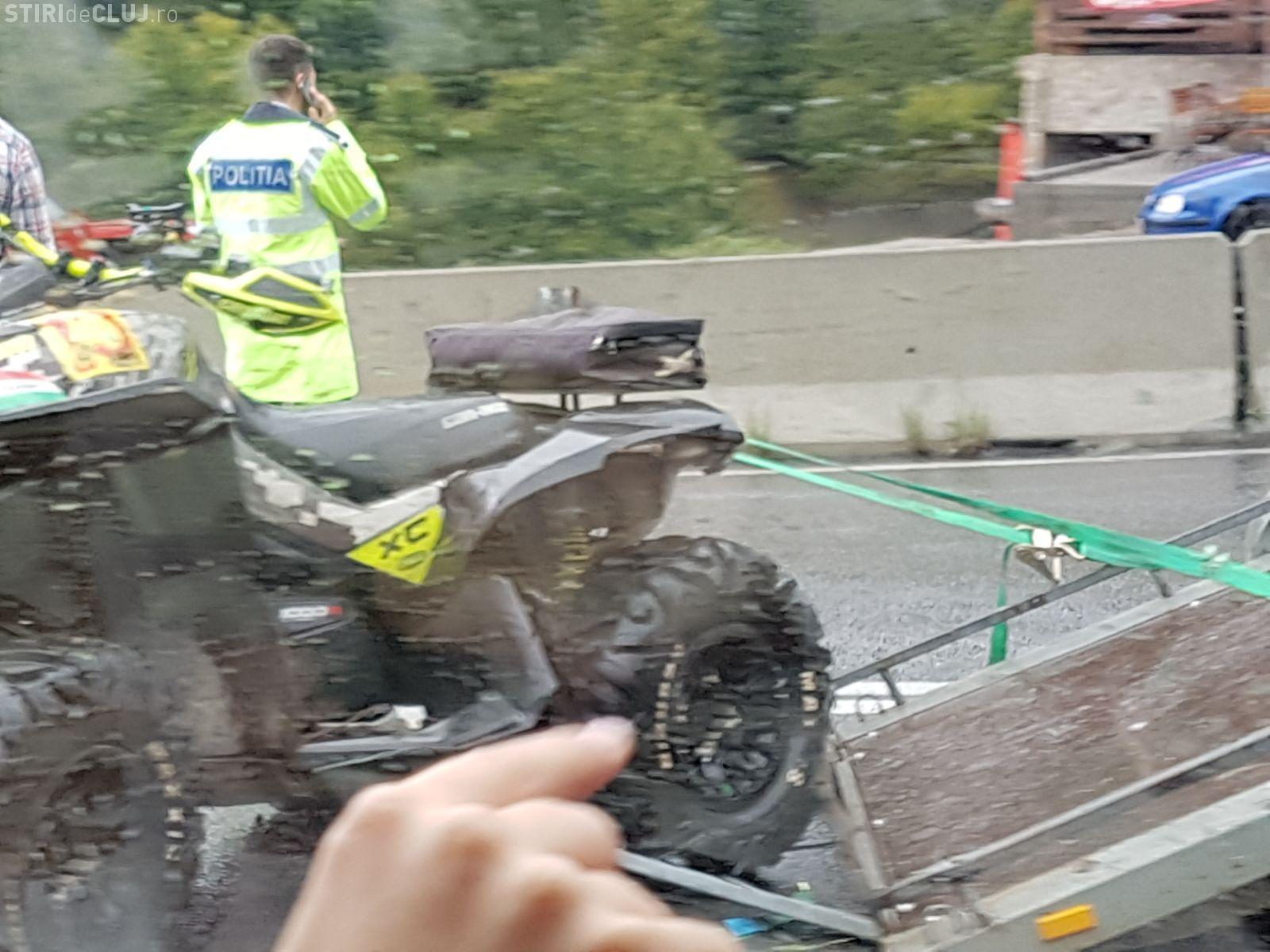 CLUJ: Accident cu trei mașini implicate, la Bucea FOTO