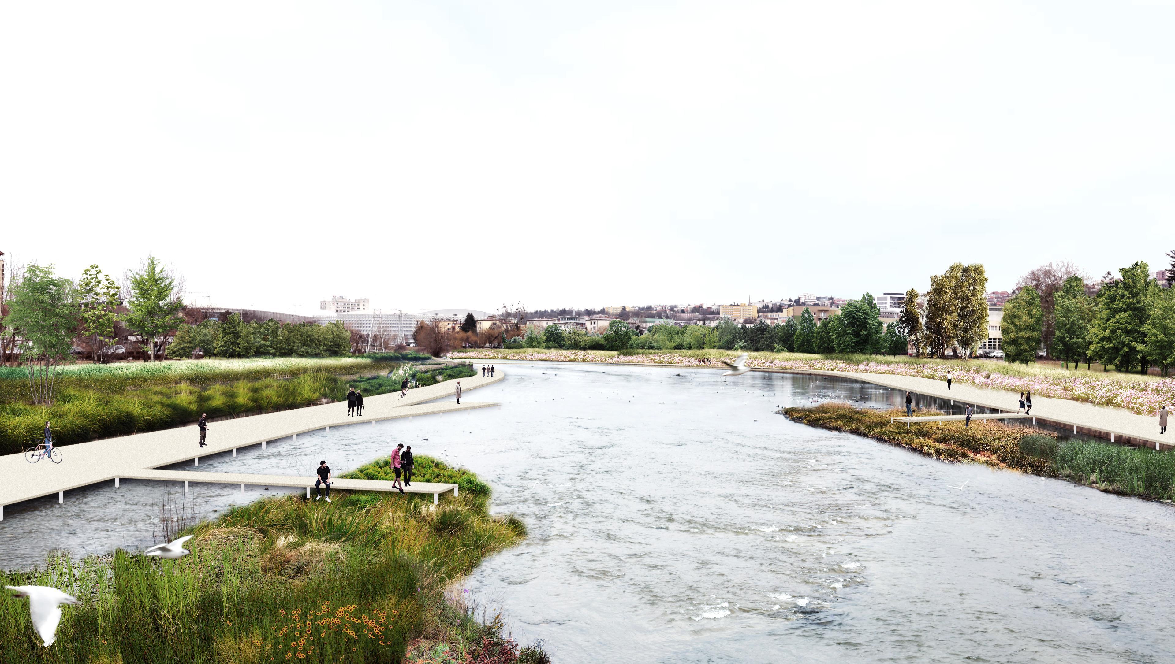 Așa ar urma să fie reamenajat râul Someș, betonat acum pe maluri din centru și până în Grigorescu- FOTO